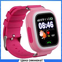 Дитячі Розумні годинник з GPS Smart baby watch Q90 рожеві - Дитячі смарт годинник-телефон з трекером і кнопкою, фото 3