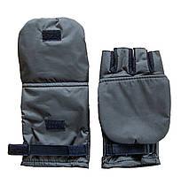 Перчатки-варежки для зимней рыбалки с откидным верхом цвет.Мокрый асфальт