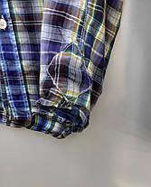 Чоловіча сорочка в клітку Розмір S ( Я-151), фото 2