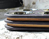 КІТ-ПЕС by smartwood Миски на подставке | Миска-кормушка металлическая для кошек котов котят  XS - 4 миски, фото 2