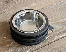 КІТ-ПЕС by smartwood Миска на подставке | Миска-кормушка металлическая для собак щенков  XS - 1 миска