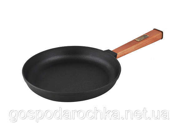 Сковорода с ручкой чугун Optima 240 x 42 мм О2440-Р ТМ Brizoll, фото 2