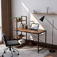 Практичный компьютерный стол Loran в стиле Лофт Коричневый
