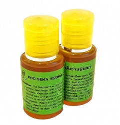 Масло травяное для лечения простуды, варикоза, дерматитов, экземы, геморроя, отеков Poo Sema Herbal Oil