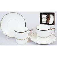 Набір кавовий керам. 4предм. (2чашки 150мл+2бл) №373-E71/Bonadi/(1)(12)