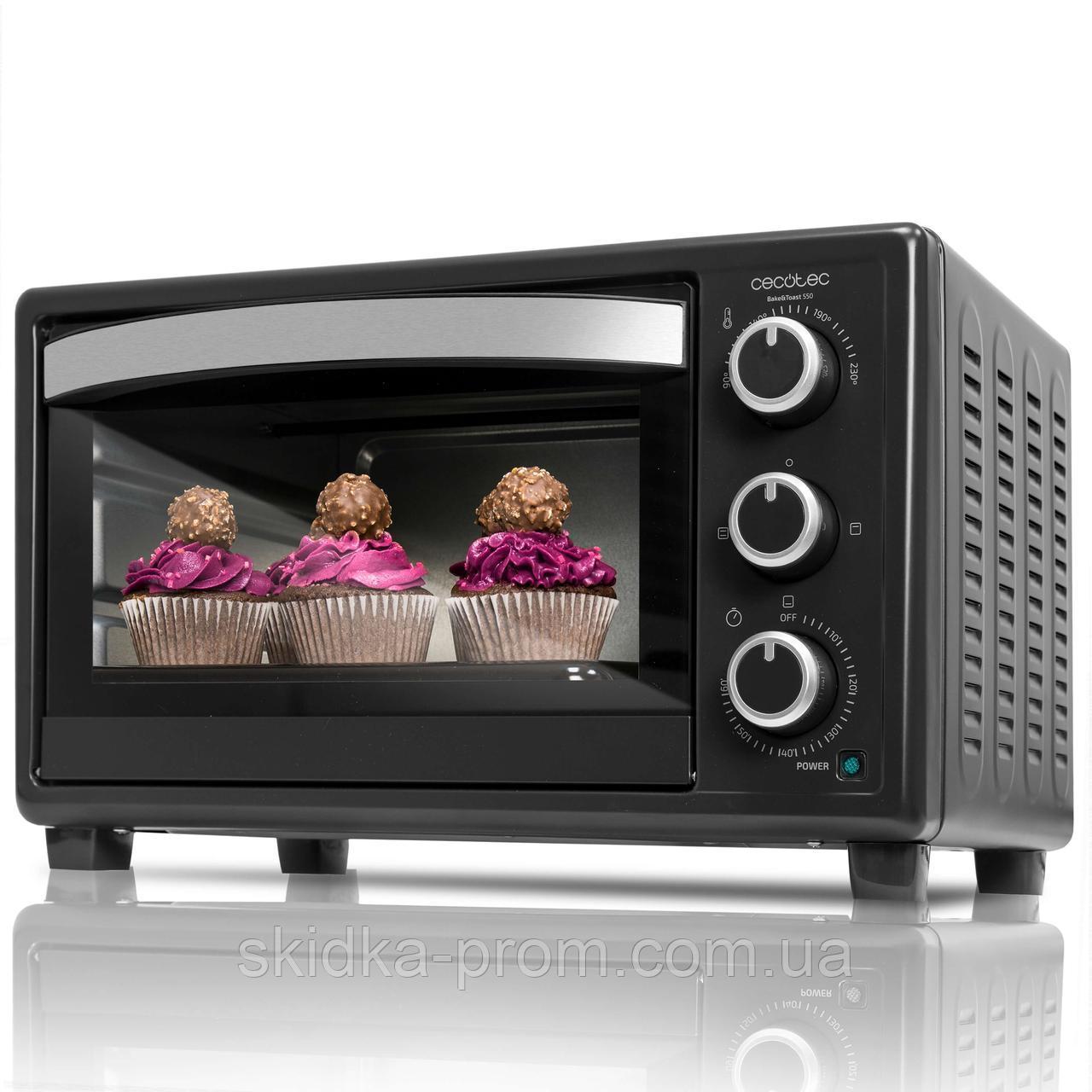 Электропечь Cecotec Mini Oven Bake&Toast 550 CCTC-02203 (8435484022033)