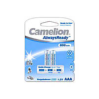Аккумуляторы Camelion ready Ni-Mh (R-03,800 mAh) / блистер 2 шт (12)