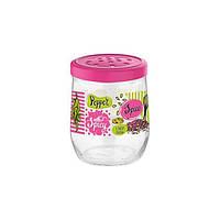 """Банка скло """"Renga"""" Tosca dec pink 0.3л 131041P/3999"""