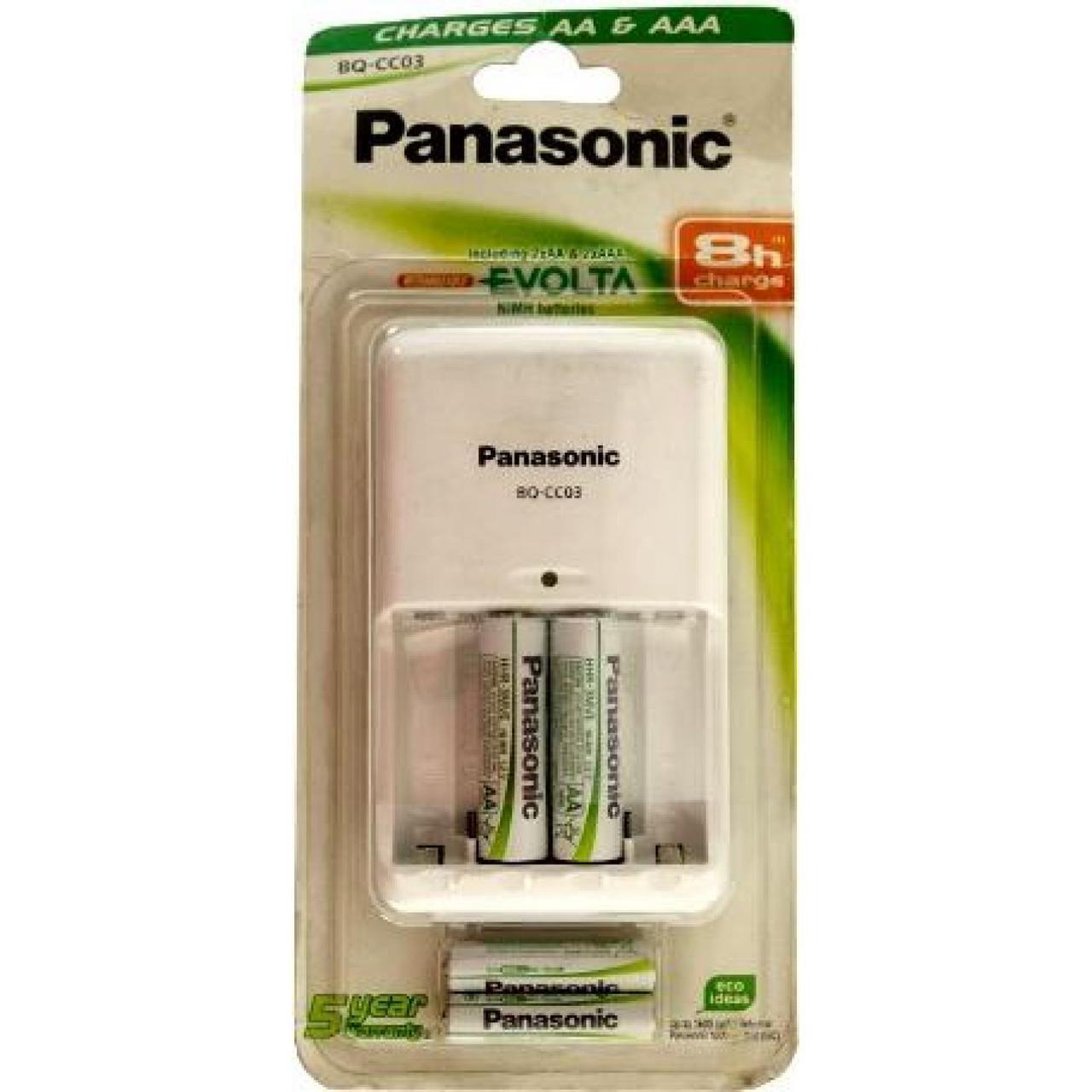 Зарядное устройство Panasonic BQ-CC03 +2AA 2050mAh +2AAA 800mAh