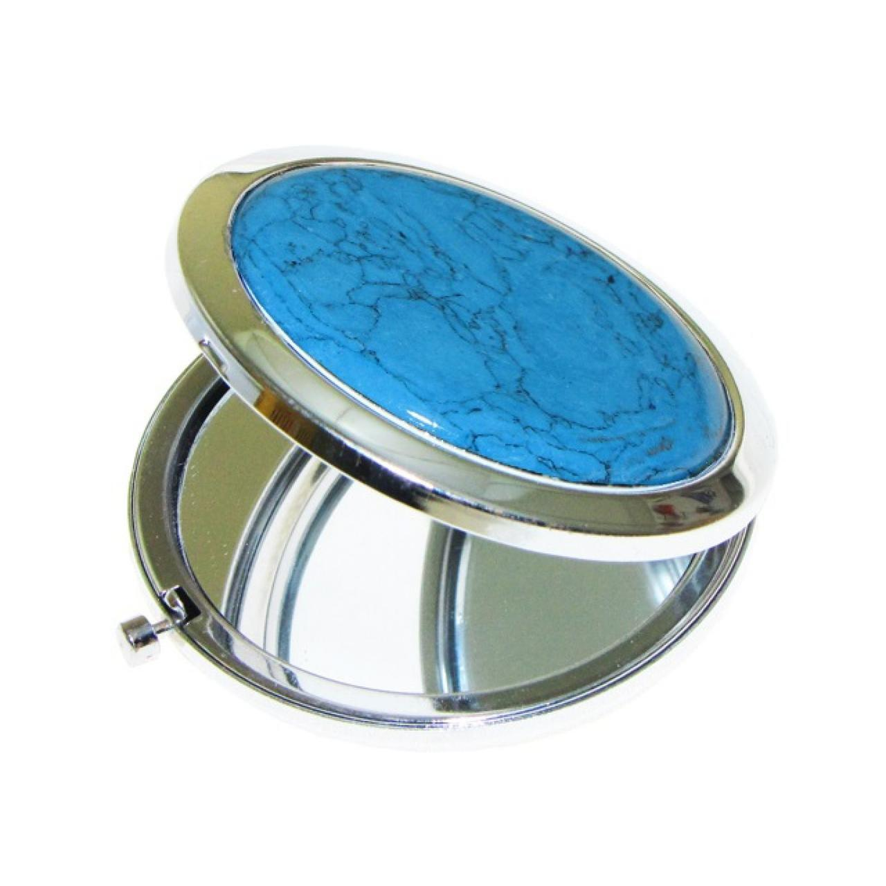 Зеркало двустороннее ЗК-1 круглое складное с увеличителем в коробке
