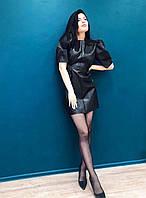 Женское кожаное платье в стиле Zara