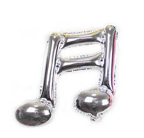 Фольгированный шар нота двойная серебро 46х44 см (Китай)