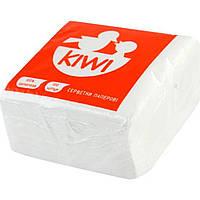 Серветки столові Kiwi 100 шт. білі Еко 0026 (40)