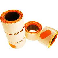 Ценник клейкий в рулоне маленький 3 м 12х25мм (275 шт) (оранжевый) (5) (325)