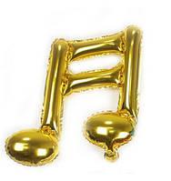 Фольгированный шар нота двойная золото 46х44 см (Китай)