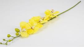 Квітка Орхідея 90 см силікон 034F/yellow (жовта)