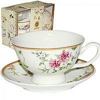 """Набір подарунковий чайний """"Франжипан""""(чашка 200мл +блюдце13,5см) 042-01-08"""