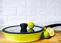 Сковородка Zitrone глубокая 28см з крышкой Ringel