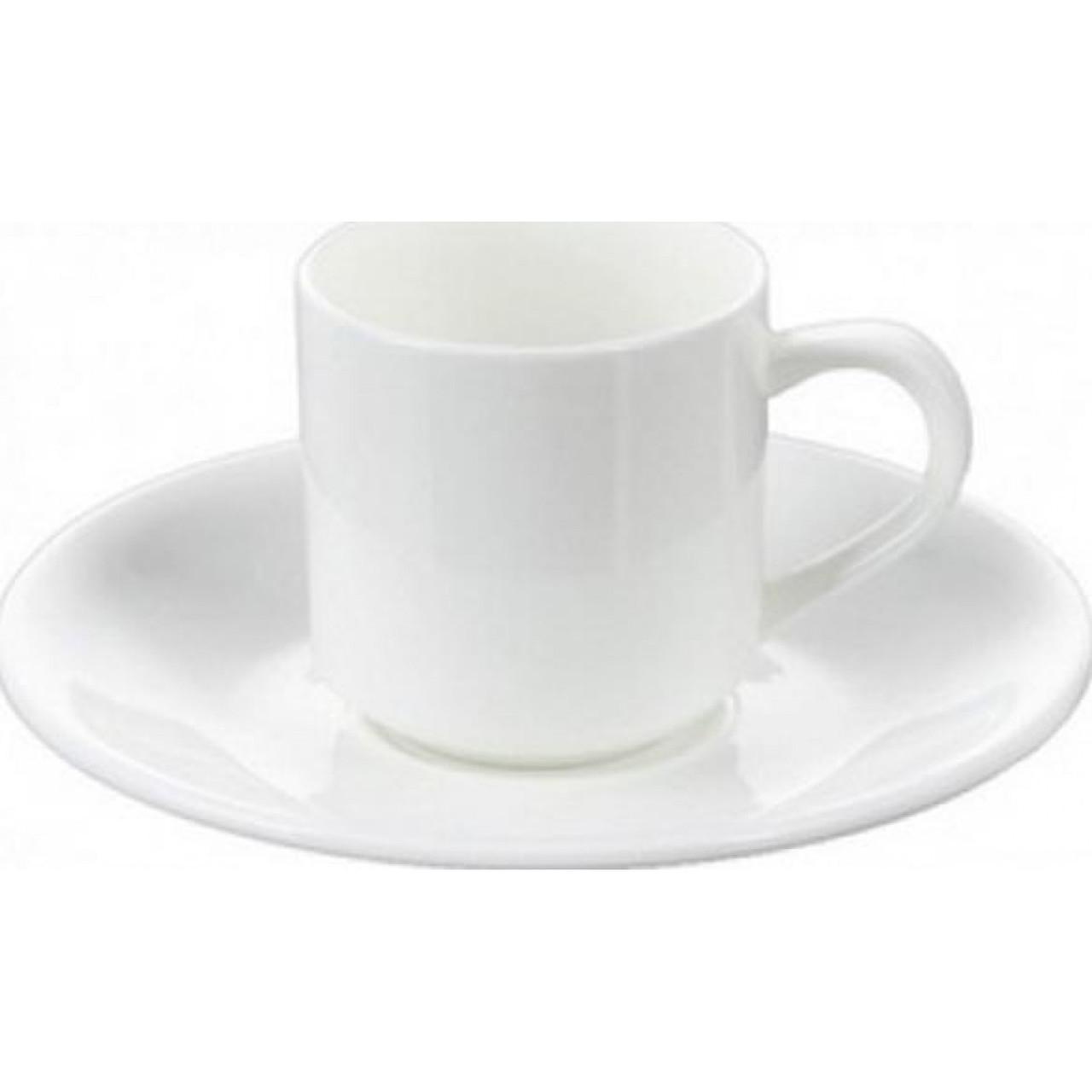 "Чашка фарфор 90 мл ""WilMax"" с блюдцем 993007"