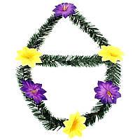 Венок 6 цветков ровная поперечина (10)