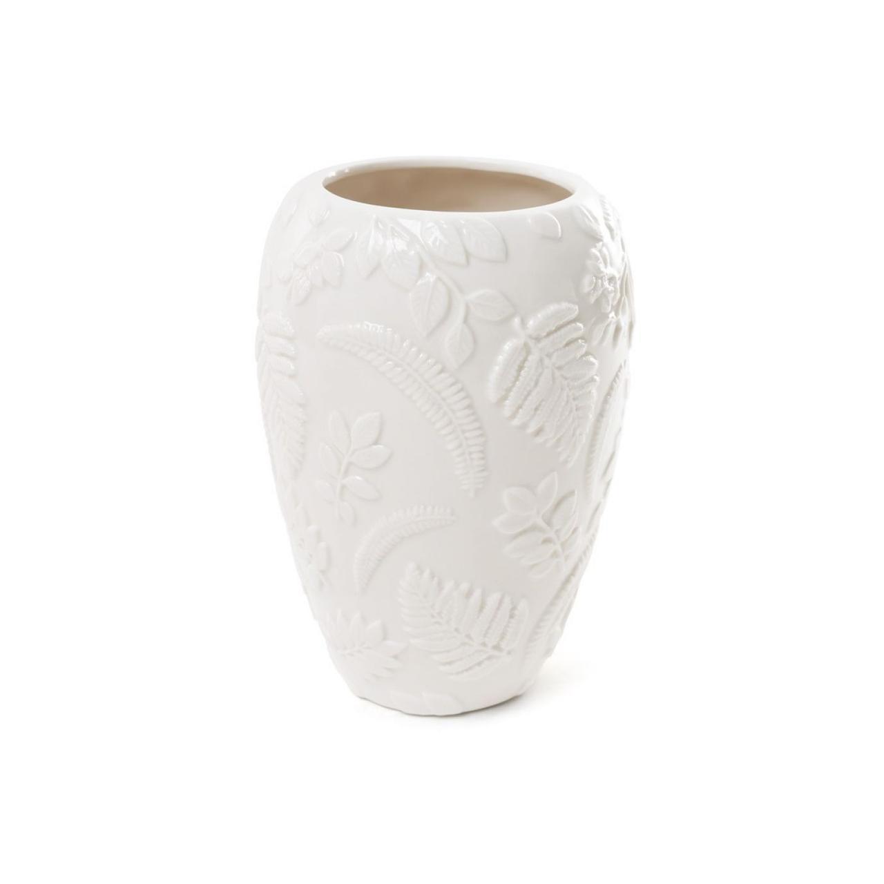 """Ваза керам. h-18см """"Флора"""" з об'ємним декором біла №727-120/Bonadi/"""
