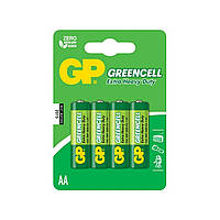 Батарейки GP Greencell GP15G-2UE4 зеленые R-06 / блистер 4 шт (18) (72)