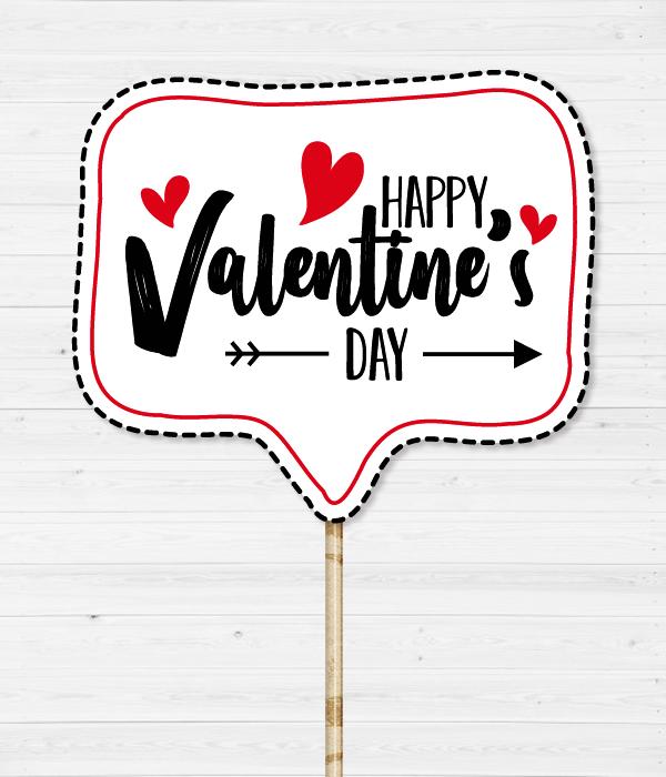"Табличка для фотосессии ""Happy Valentine's day"""
