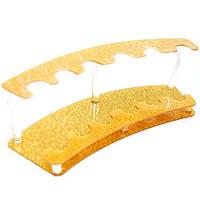 Подставка для расчесок золотистая (на 6 шт.)