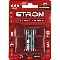 Аккумуляторы Etron Ultimate Power ready Ni-Mh (R-03,600 mAh) / блистер 2 шт (2)