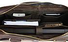 Сумка мужская для документов большая кожаная А4 SULLIVAN smg28(60) коричневая, фото 6