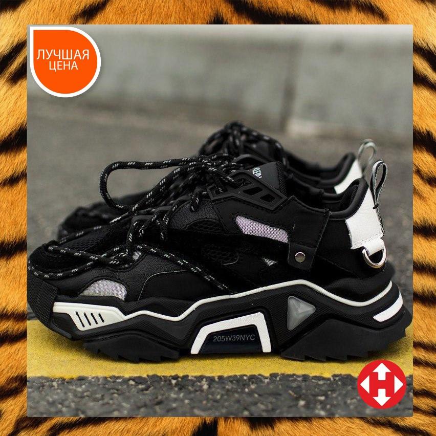 🔥 Кроссовки женские спортивные повседневные Calvin Klein Strike Black 205w39nyc (кельвин кляйн страйк черные)