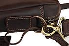 Сумка мужская для документов большая кожаная А4 SULLIVAN smg13(48) коричневая, фото 5