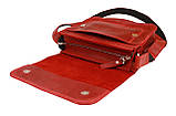 Сумка женская кожаная маленькая клатч  SULLIVAN sg7(25) красная, фото 4