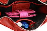 Сумка женская кожаная маленькая клатч  SULLIVAN sg7(25) красная, фото 8