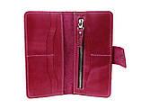 Кошелек женский кожаный большой SULLIVAN  kgb71(10) фуксия, фото 7