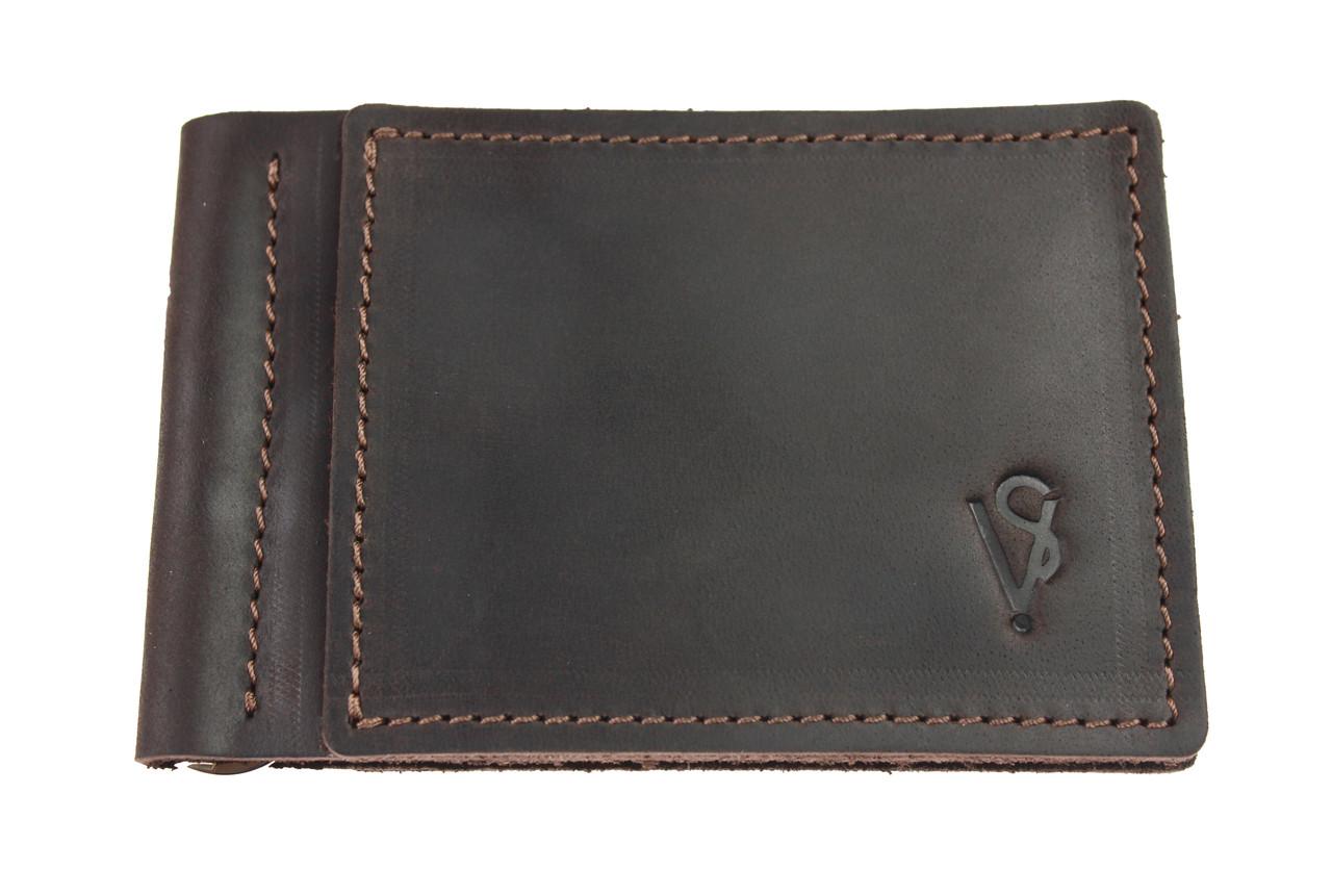 Кошелек мужской кожаный зажим для купюр SULLIVAN kmzdk11(4) коричневый