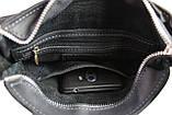 Сумка мужская кожаная на плечо SULLIVAN smvp132(30) черная, фото 5