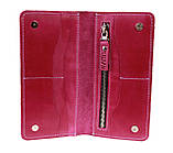 Кошелек женский кожаный большой SULLIVAN kgb74(10) фуксия, фото 5