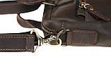 Сумка мужская для документов большая кожаная А4 SULLIVAN smg21(45) коричневая, фото 3