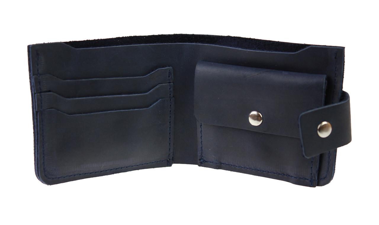 Кошелек женский кожаный маленький SULLIVAN kgm11(8) синий