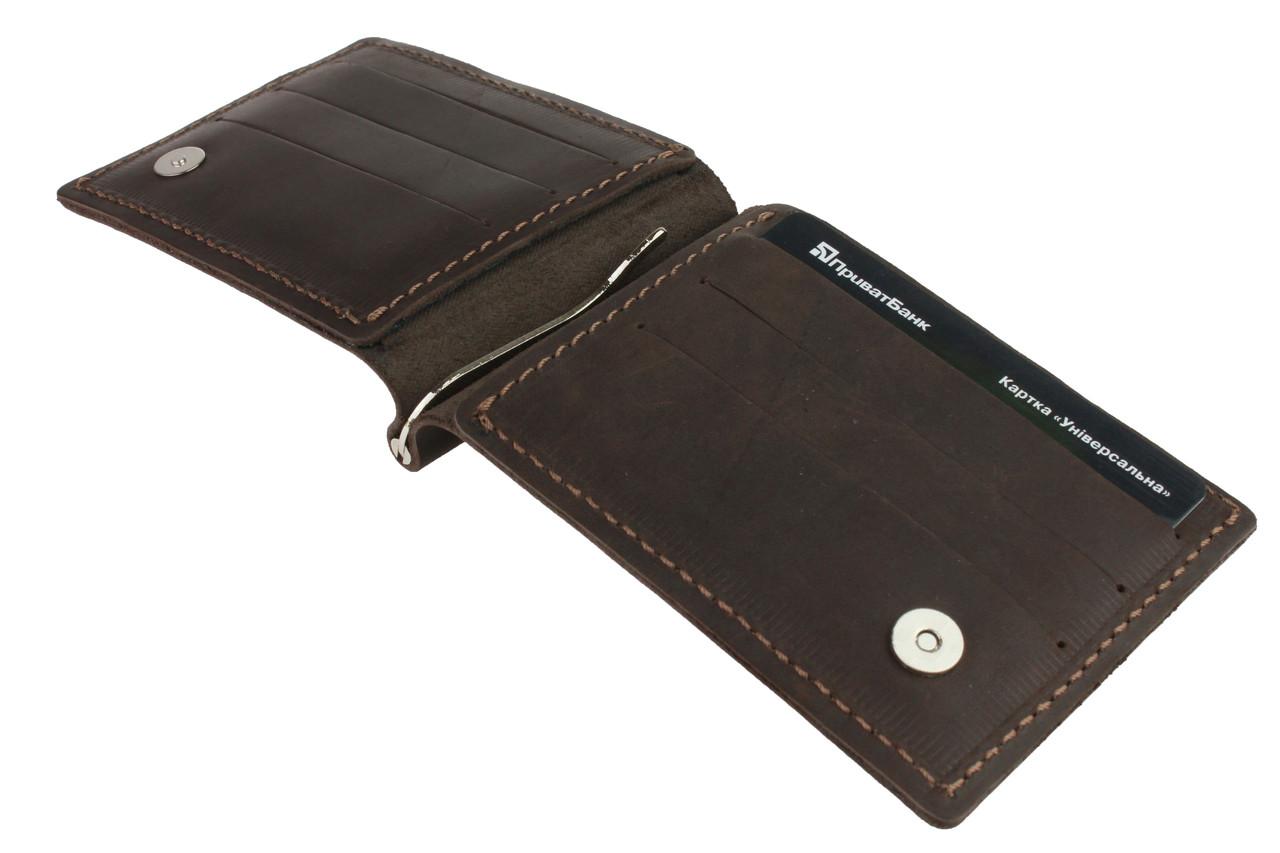Кошелек мужской кожаный зажим для купюр SULLIVAN kmzdk2(5) коричневый