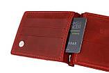 Кошелек женский кожаный зажим для купюр SULLIVAN kgzk1(5) красный, фото 2
