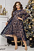 Платье вечернее А-силуэта флок на сетке 48-50 52-54 56-58 60-62, фото 2