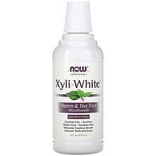 """Ополаскиватель для полости рта NOW Foods, Solutions """"XyliWhite Mouthwash"""" вкус ним и чайное дерево (473 мл)"""