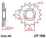 Зірка сталева передня JT Sprockets JT JTF1594.15, фото 2