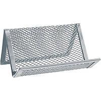 Подставка для визиток Axent 95х80х60мм металлическая серебристая 2114-03