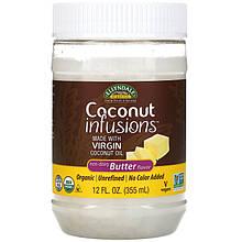 "Кокосовое масло NOW Foods, Ellyndale Naturals ""Coconut Infusions"" со вкусом сливочного (355 мл)"