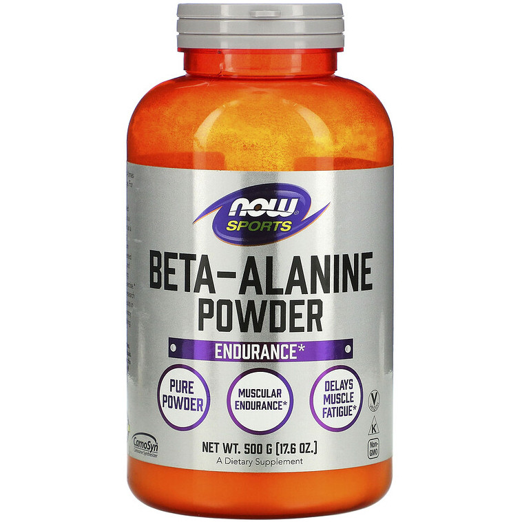 """Бета-аланин NOW Foods, Sports """"Beta-Alanine Pure Powder"""" мышечная выносливость, чистый порошок (500 г)"""