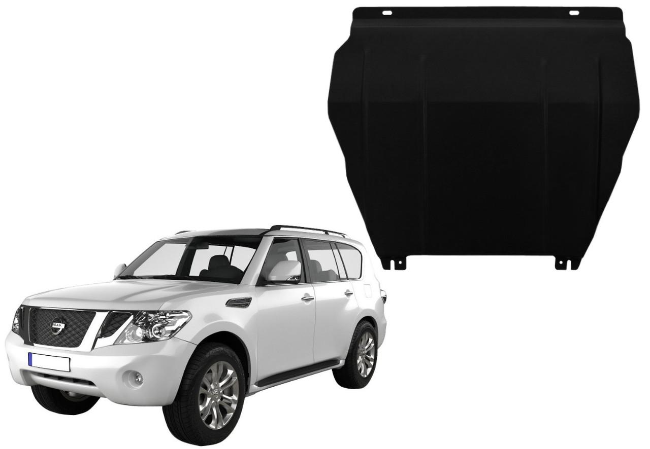 Защита двигателя Nissan Patrol Y62 2010-2021