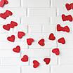 Гирлянда из сердечек красная (3 метра), фото 2